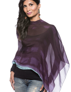 Silk Ponchos with Hoodies