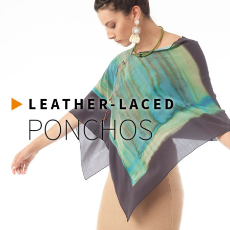 Leather-Laced Ponchos